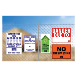 Fence Signs
